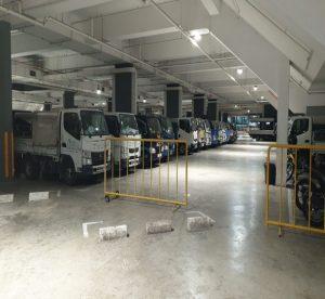 Sheltered carpark free of pedestrian