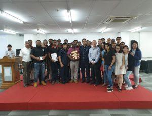 TG25 Pte Ltd Management congratulates Cluster 5 Team