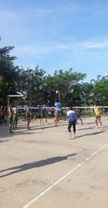 Volleyball competition during CNY celebration