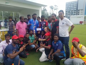 Cricket match finalist
