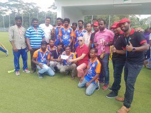 Cricket match runner up